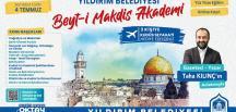 """YILDIRIM BEYT-İ MAKDİS AKADEMİSİ"" BAŞLIYOR"